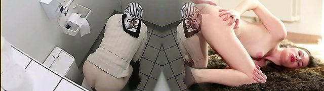 Granny got her ass on toilet voyeur vid while pissing