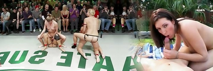 To sexy nude wrestling beotches get fucked with thick long strap-ons