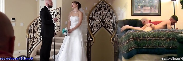 Fabulous bride facialized by her Photographer