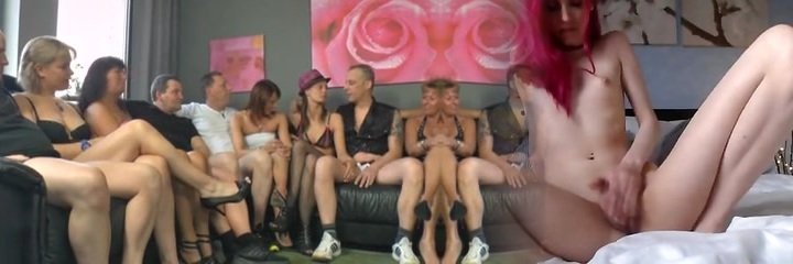 Awesome group fuck act during swinger's soiree