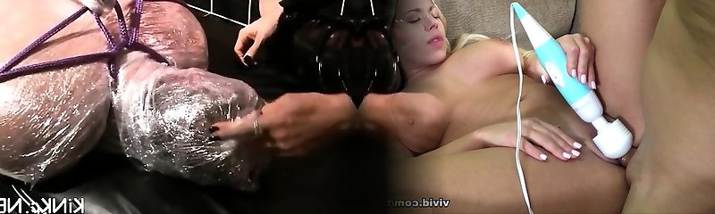 Hard double booty fisting and toy injection for ready victim