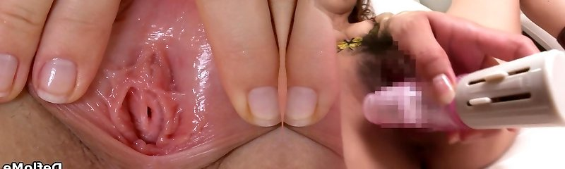 Cherry teases her small tits and opens up pussy lips in closeup