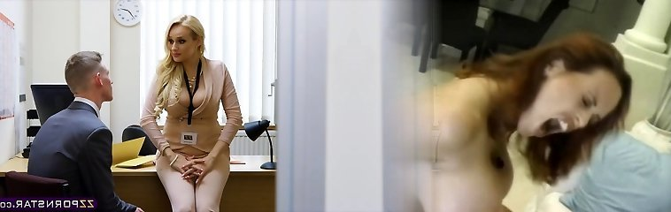Sexy busty lecturer fucked rigid in her office