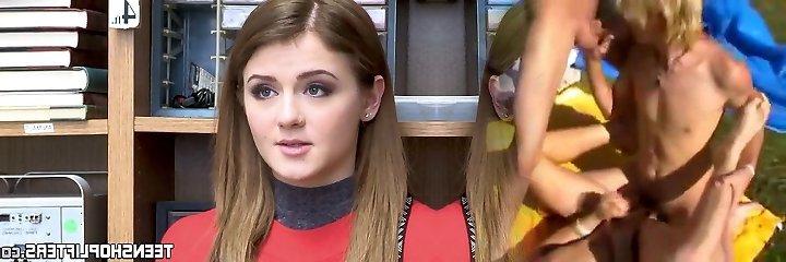 Inked teenage Rosalyn Sphinx banged before office facial