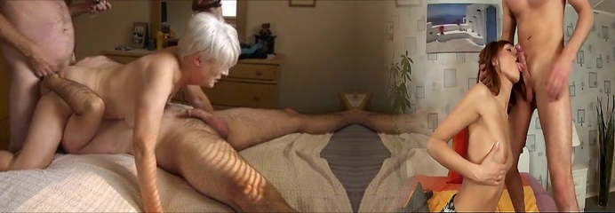 Mature girl having a 3some