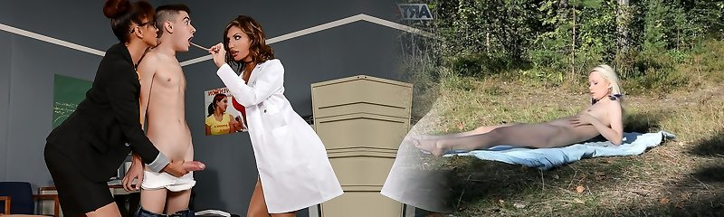 August Ames & Isis Enjoy & Jordi El Nino Polla in A Peak To The College Nurse - Brazzers