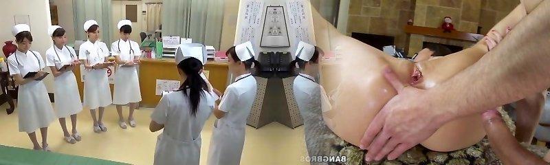 Stellar Japanese model Yumemi Nakagawa, Nachi Sakaki, Akari Asakiri in Kinky Nurse, Threesomes JAV scene