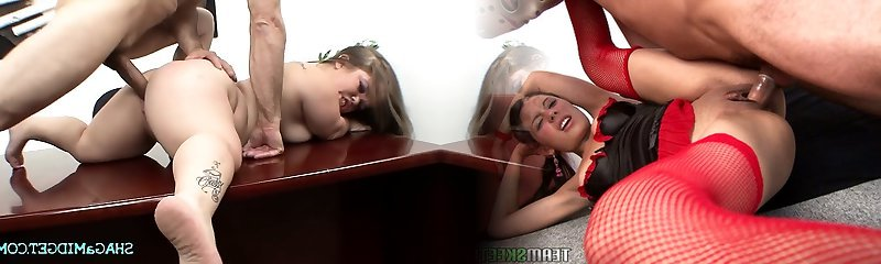 Office Fuck With Sumptuous Midget Babe