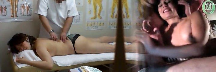 Medical voyeur massage vid starring a round Asian wearing black panties