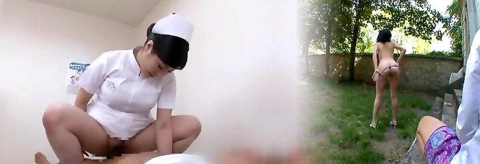 Cool Asian model Yuri Aine, Yu Kawakami, Aya Sakuraba in Insane Nurse JAV video