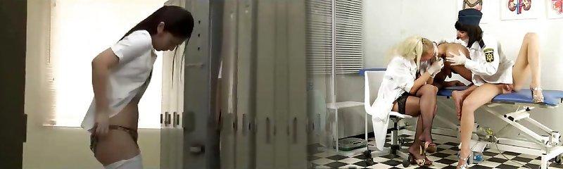 Japanese nurse fucked in locker bedroom
