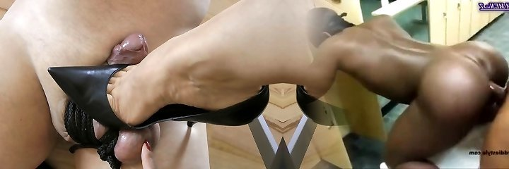 Ultimate Leather Heels High-heeled Slippers Shoes Cuir Leder Two