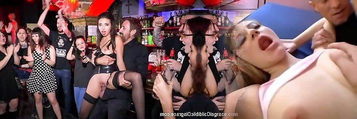 Underground Goth Pub Turns Into A Wild Fuck Party - PublicDisgrace