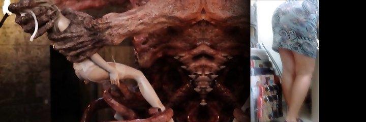 3D Horrifying Aliens Fuck Poor Girls!