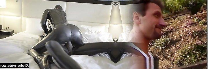 Steamy pornstar latex and cumshot