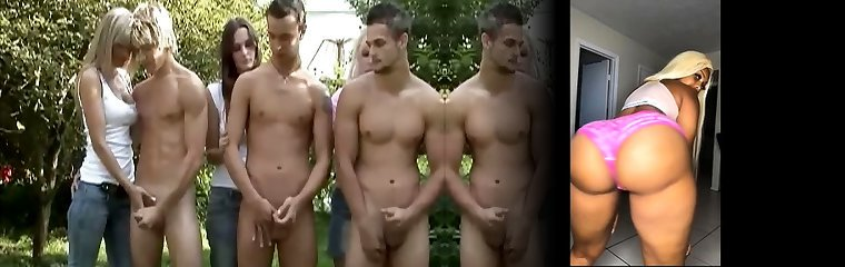CFNM 5 Guy Circle Fap for Damsels in Forest