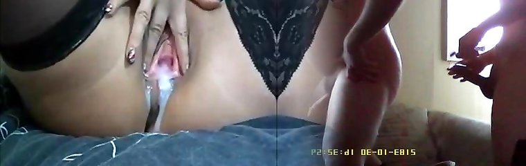 Moist milf real burst with a lot of  white cumming