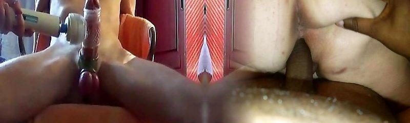 jerking and massage with a vibro-toy (wichsen mit vibrator)