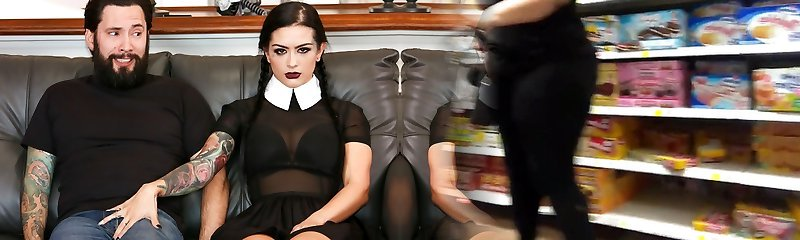 Katrina Jade & Tommy Pistol in Very Adult Wednesday Addams - Katrina Jade - BurningAngel