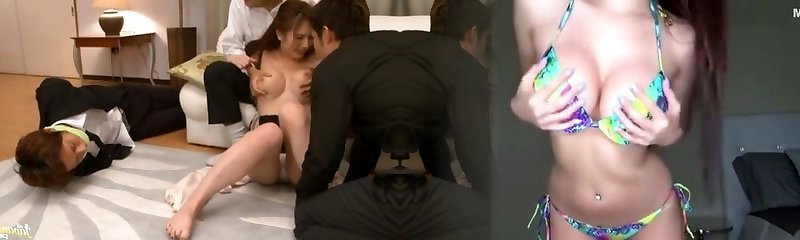 Mischievous MILF Yui Azusa´s Body Penetrated By Two Guys