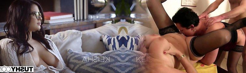 TUSHY Super Hot Wife Keisha Grey Likes Threesome