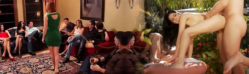 New swinger couple got a joy in a redroom of building