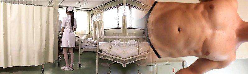 2 chinese nurses suck cock and swap cum.