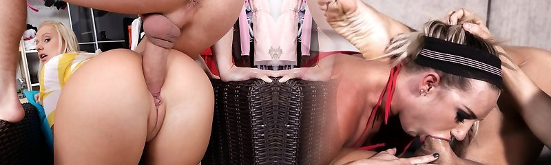 Inexperienced Blondie With a Dangerous Red-hot Booty