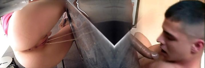 Toilet piss video with utterly horny close up scenes