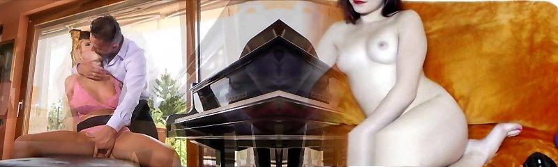 Florane Russell Spanked Piano Teacher