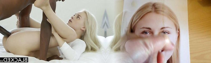Sweet blonde girl Elsa Jean porks her GF's stepbro