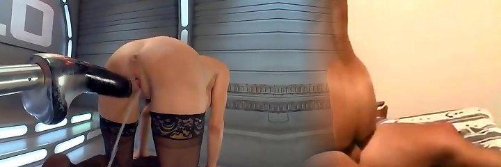 Masturbation ample piston machine