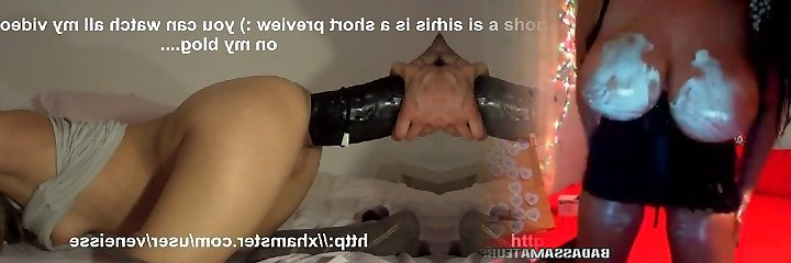 Veneisse extreme dual fisting rectal & pussy and big dildo