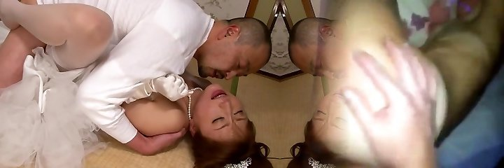 Akiho Yoshizawa in Bride Humped by her Parent in Law part 2.2