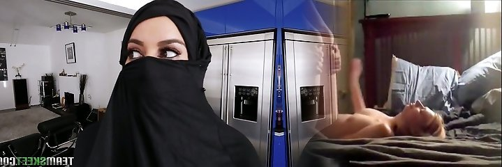 Super-hot Arab babe in hijab Victoria June gets her fuckbox banged in hot POV pinch