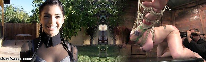 Joanna Angel & Leigh Raven & Nikki Hearts & Nikki Darling & Holly Hendrix in Behind-the-scenes Scene 97 - BurningAngel