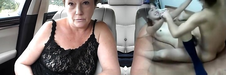 Mature tiny tit sans bra dare in van