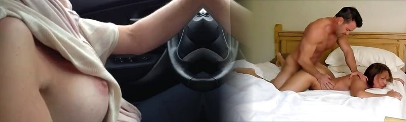 My sex-positive busty wifey luvs to drive a car showing her tits