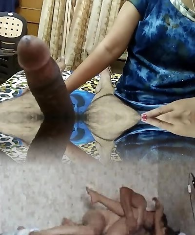 Indian girl giving oral pleasure