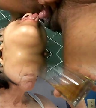 Girls sucking a huge erect clit