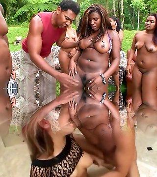 Greatest pornstars Sandra Bumbum and Bom Bom in hottest big tits, brunette gonzo clip