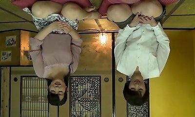 Exotic Japanese biotch in Best Lesbian, Mature JAV clip