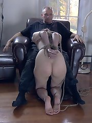 Some women are slaves, best used for service. Others are bitches, their suffering IS their value.  Kristine is the 3rd kind, a slut with holes that beg to be filled.  The look in her eye when she sucks cock cries for approval.  When PD bends her over and pounds her cunt she just begs for more.  Getting rammed with cock is its own reward.  It is the most beautiful of submissions.