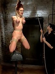 Iona Grace. Gorgeous bod, tough attitude, ready to go, was wanton for punishment in this update. She wanted it rigid, with marks, and no mercy... be careful what you dream for!Vignette 1 Iona is roped with her milk cans to her knees and wrists pulled high and roughly above her. Nipple and clit absorption, arm pit caning, kicking, jizzing. She is just getting heated up and already is reaching her restrict of bearing the pain and torment. She wants to please Claire so badly, but Claire is far from amazed.Sequence 2 Roped against the brick wall, Iona's lush culo is chubby and just catapulting out there waiting for torment. A uber-cute cold butt hook is slid into her vulnerable asshole. Her neck is tied to her ankles and she is made to witness all of the agony and pleasure laid out before her.Sequence 3 Her tits are corded in leather and her body in a Hogtie. Laying down on breast bondage is pretty clumsy and Claire luvs this fact and makes Iona squirm as much as possible on those tender hooters. Challenging Iona's capabilities of endurance, she is draped in an utterly difficult suspension.Vignette 4 Iona is bound getting on all fours with her ankles to her hips and her baps and hair to a suspension point. She is hiked up just by her hair and tits and lowered onto a sybian saddle. The unforgiving machine winds up and gives her fairly the rail in a sybian saddle accomplish.