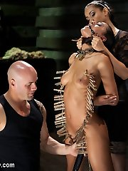Her abilities were tested and now she is expected to display some self manage during her orgasms. First she has a zipper added to her assets and her muff is over vibed to witness if she can hold her composure. The pegs are left on her bod during the break to allow her flesh to marinate in the ache. Derrick and Isis commence the next gig having their way with Lyla. Derrick is plumbing her face while Isis works on getting her knuckle inside of Lyla's labia. Now that one knuckle is in, Isis wants to put her other fist inside of this willing marionette. Lyla's body is used to the hottest of her capability, but they have grown bored, so to entertain themselves they finally remove the zipper. Lyla is now dangled and again the trainers take turns using her fuck holes for their enjoyment. She has done well so far keeping her composure, but when these two conclude with her there is validity to my previous observation about her being a sexual beast.