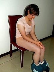 Gorgeous enslaved girl thrashed OTK