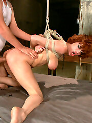 Victim girl Veronica Avluv is collective by Isis Love and Dane Cross in this threesome BDSM fuckfest.