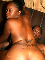 Sumptuous young ebony Keisha showing off her booty and takes cock packing in her cooch