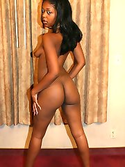Young ebony Supa Star showing off her fleshy back sides and gets cock cramming in her hole