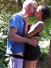 Dirty babe Alyssa Divine sucks and fucks stud in the middle of the woods